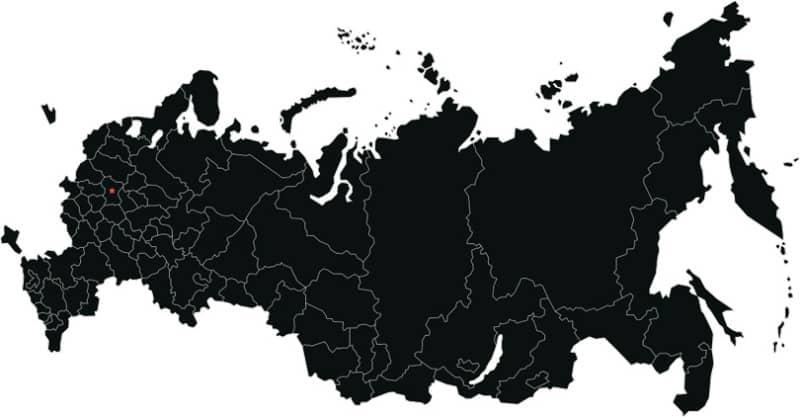 Векторная карта России с регионами