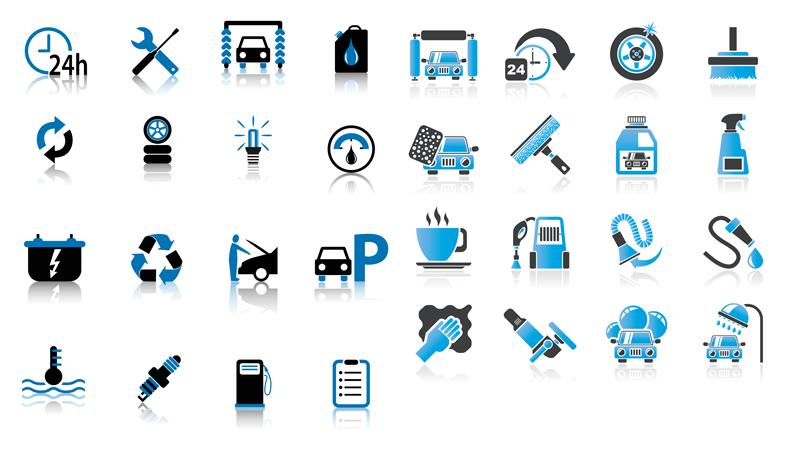 Векторные автомобильные иконки