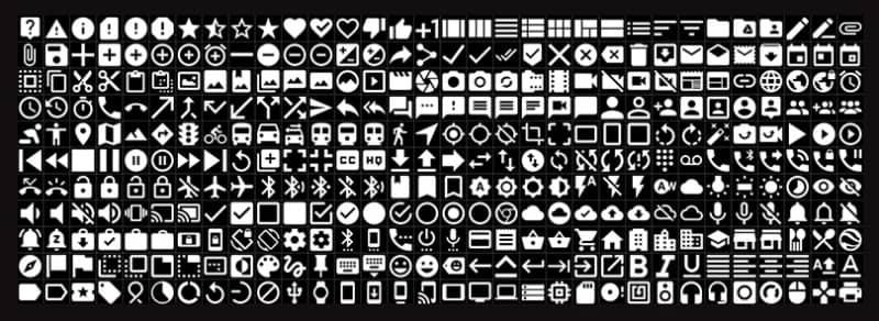 Некоторые из иконок представленных в наборе
