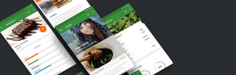 Шаблон Android-приложения — Material UI Kit: Cooking