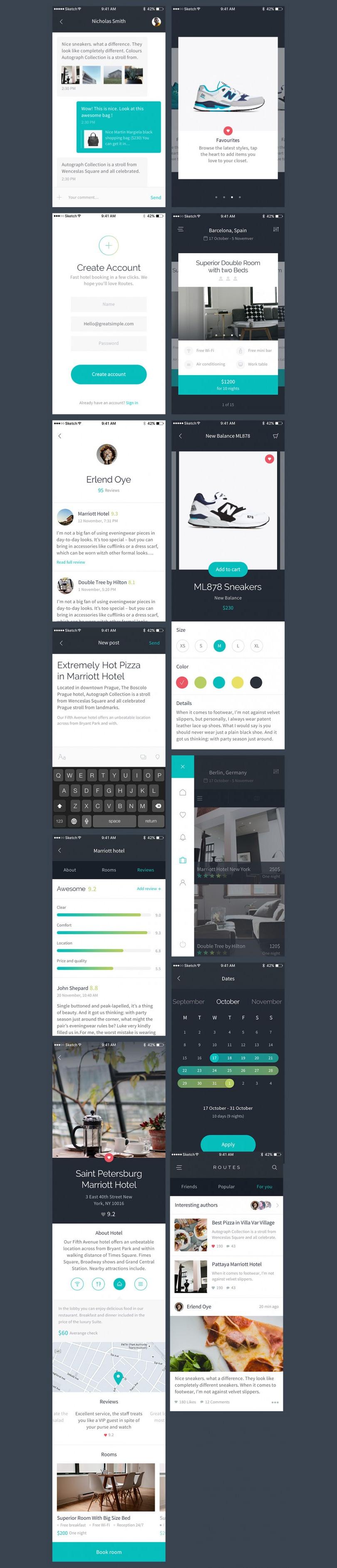 Шаблон iOS-приложения —Routes UI Kit