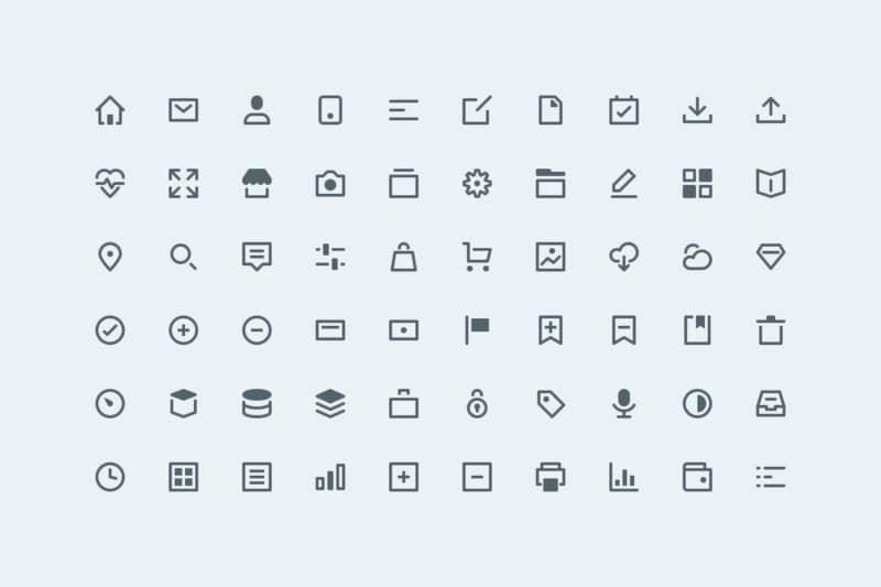 Набор минималистичных иконок