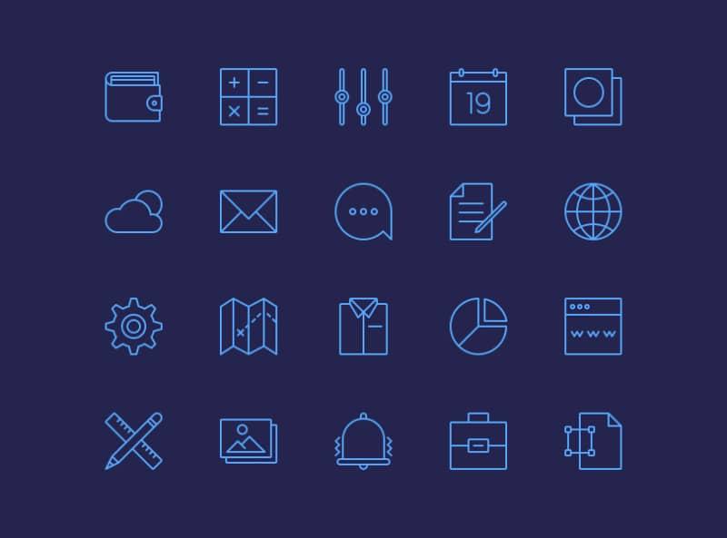 20 офисных иконок