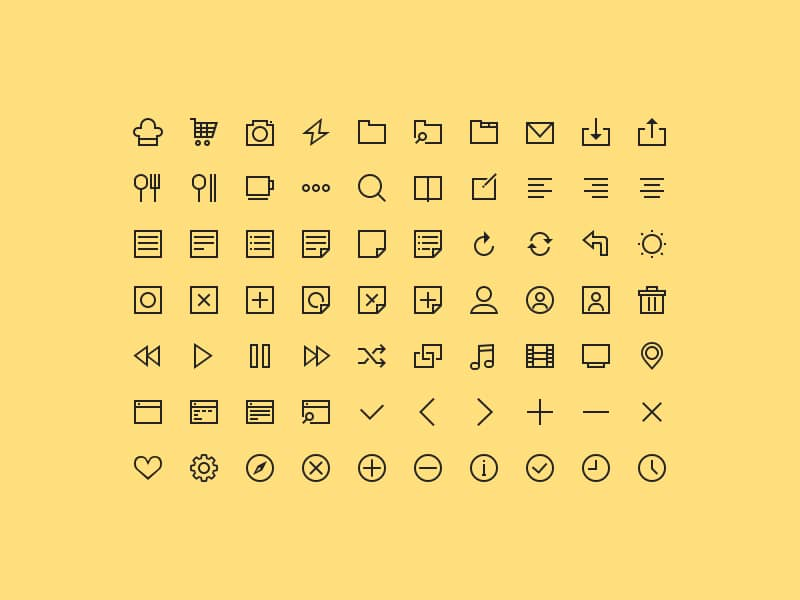 70_simple_icons_free_PSD