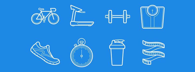 Health-and-Fitness-Outlined-Vectors