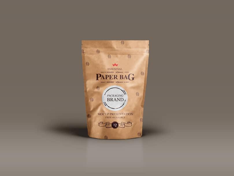 Шаблон упаковки от кофе