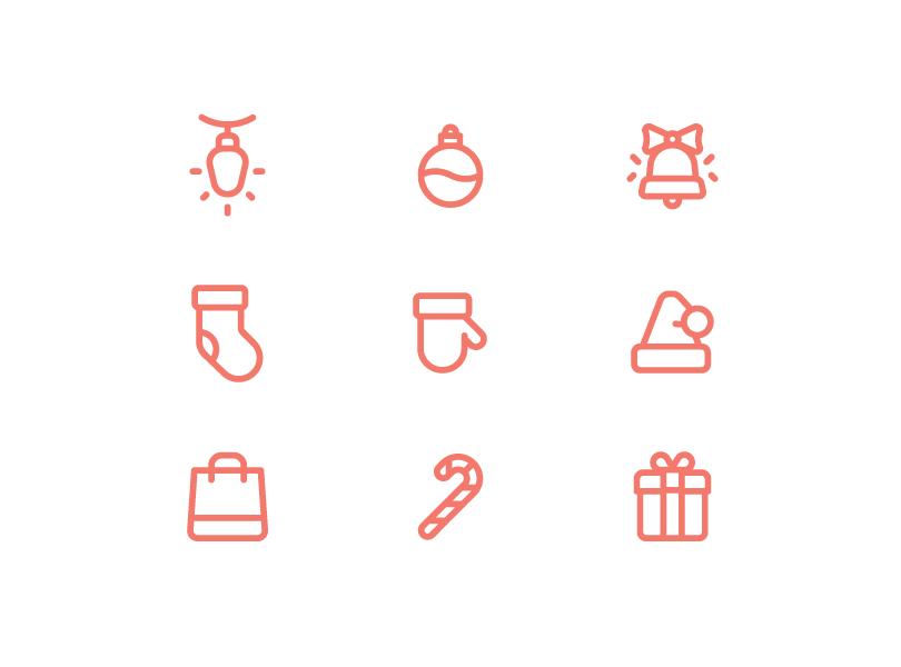 9 рождественских иконок