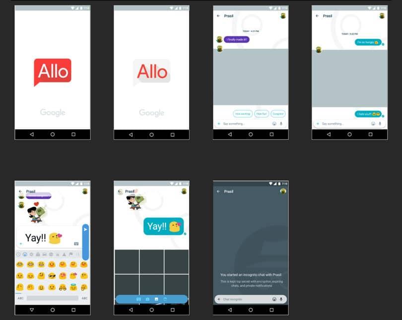 Экраны Android-приложения «Allo»