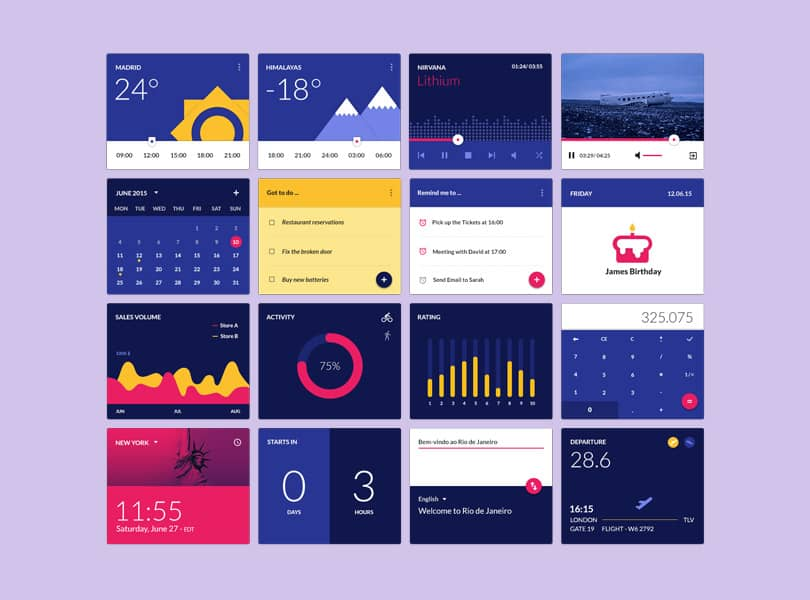 material-design-widgets-ui-kit-preview