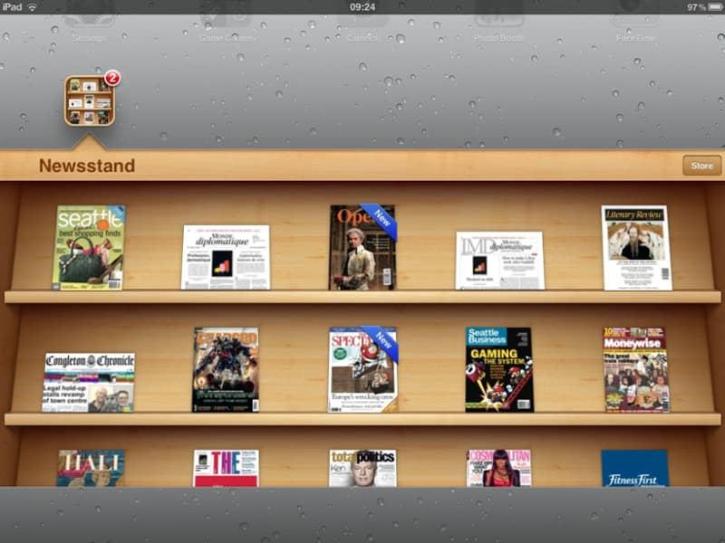 Скриншот приложения «Newsstand» из iOS 6