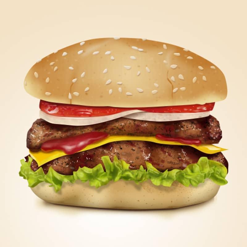 Шаблон гамбургера