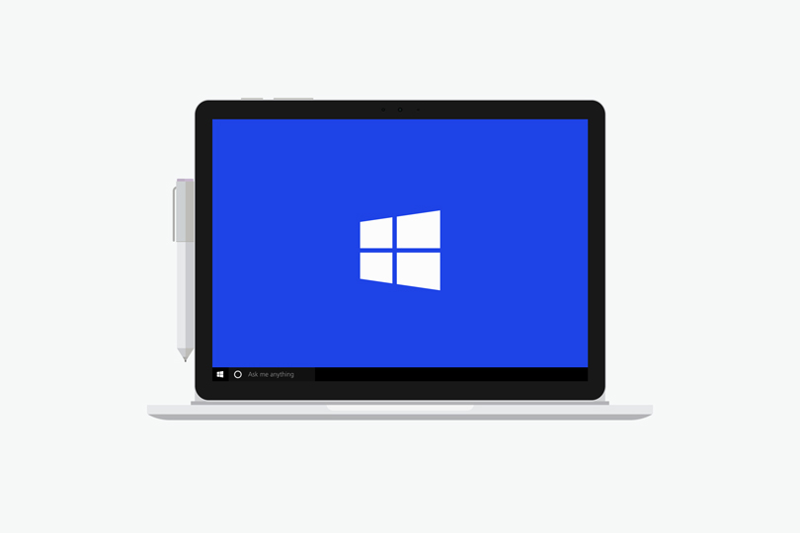 Шаблон ноутбука Microsoft Surface Book